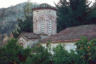 The decorative drum of Agios Nikolaos Church in Kyriakoselia