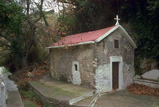 The Byzantine church of Agios Antonios near the abandoned village of Mili
