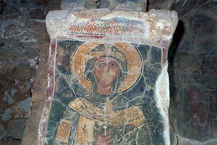 A fresco in the Byzantine church of Ai Yannis Kyr-Yannis in Alikianos