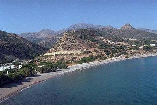 Η παραλία του Μακρύγιαλου στην Ιεράπετρα
