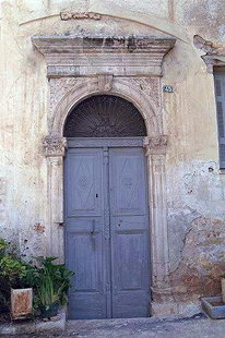 A Venetian portal in the Kastelli of Chania (The Archives)