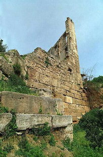 The Kastelli wall of the original Venetian city of Chania