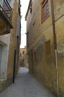 A narrow street in the old town of Chania