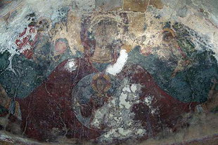 The Panagia fresco in the church of the Panagia Kera Grameni, Meseleri