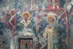 A fresco in the church of the Panagia Kera Grameni, Meseleri