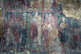 The Raising of Lazarus fresco in the church of the Panagia Kera Grameni, Meseleri