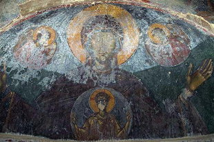 The Panagia fresco in the church of the Panagia Vriomeni Monastery, Meseleri