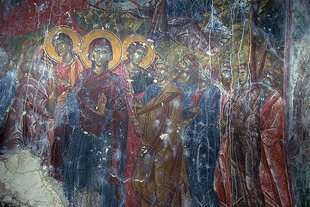 A fresco in the church of the Panagia Vriomeni Monastery, Meseleri