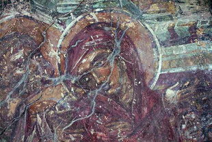 Un affresco della chiesa bizantina di Agios Stefanos, Drakona