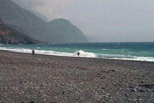 La plage de Sougia