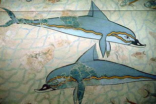 Dolphins from the Queen&#180;s Megaron in Knossos
