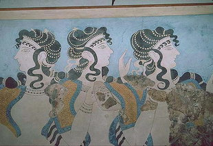 Priestesses dancing - fresco from Knossos