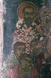 Fresco by Ioannis Pagomenos from Agios Nikolaos Church, Moni
