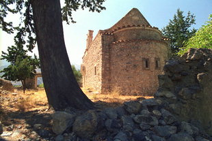 The Byzantine church of Agios Georgios in Males