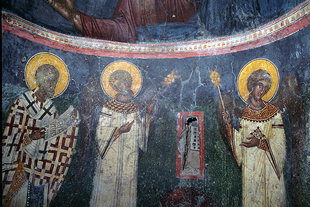 A fresco in Agios Georgios Church, Pano Simi
