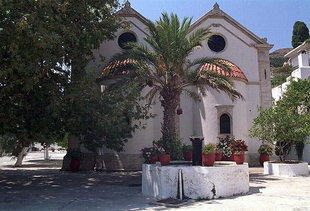 Die Kirche vom Epanosifi-Kloster