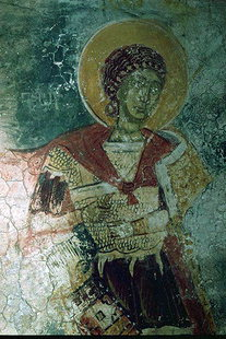 A fresco in Agios Georgios Church in Koustogerako