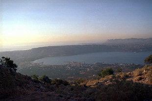 La Baie de Souda et la ville de Chania