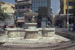 Der Morosini-Brunnen auf dem Löwenplatz, Iraklion