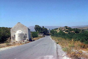 The Venetian village and Agios Ioannis Church, Etia