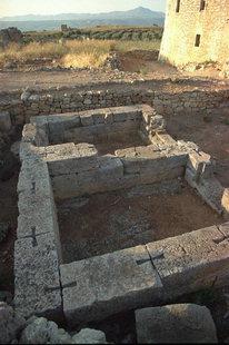 L'ancien temple grec à Aptera