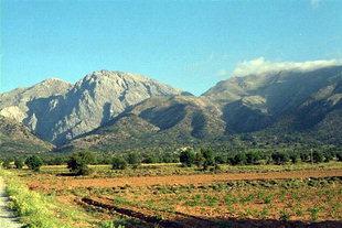 Die Omalos-Hochebene und der Gipfel Gigilos