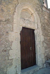 The portal of the Venetian church of the Voila Villa, Handras