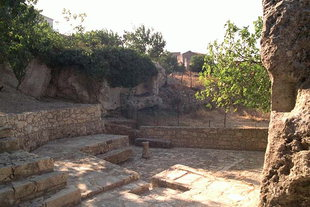 Ruins in front of Agios Ioasaf Church, Agios Thomas