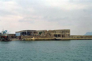 The Venetian fort San Nicola in the harbour of Chania