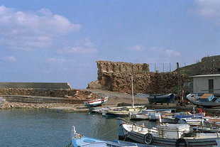 The east end of the harbour and the Venetian ruins, Chania
