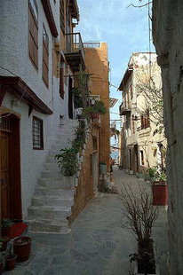 A street with many remains of the Venetian era, Chania
