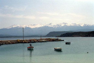 Marathi harbour and the Lefka Ori