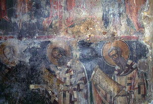 A fresco in Afentis Christos Church in Potamies