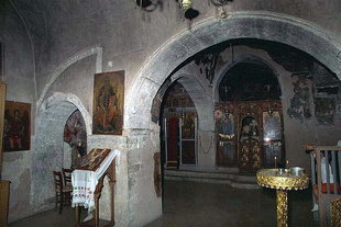 The interior of Moni Kera church