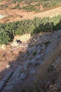 Anciennes ruines à Lyttos