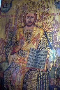 Une icône dans l'église des Agii Georgios et Konstantinos