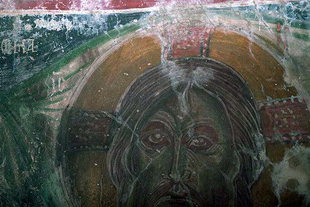A Byzantine fresco found in the Panagia Spiliotisa, Agios Thomas
