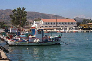 The fishing boat harbour of Souda