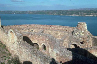 The Turkish castle in Aptera overlooking Souda Bay