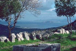 Agios Nikolaos, von der griechischen Stätte von Lato aus gesehen