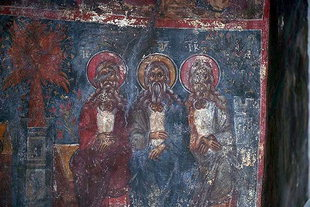 A fresco in the church of the Panagia, Roustika