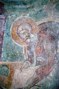 A fresco from of Agia Paraskevi Church in Siva
