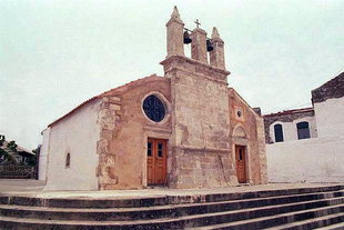 The facade of the Panagia Church in Roustika