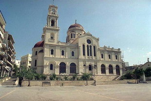 Cathedral of Agios Minas, one of the largest churches in Greece, Iraklion