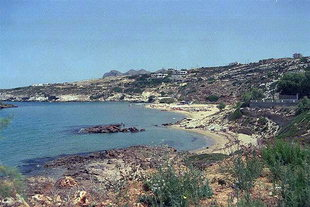Kalathas beach on the Akrotiri, Chania