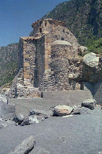 Die byzantinische Agios Pavlos-Kirche bei Agia Roumeli