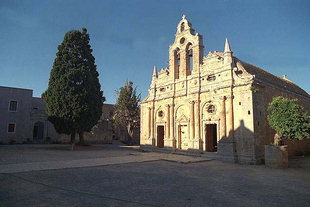 The church of Arkadi Monastery