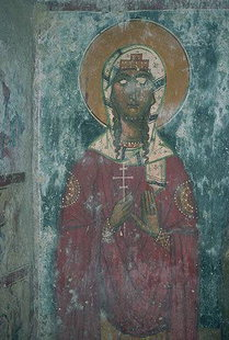 A fresco in Agios Ioannis Church in Axos