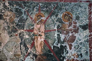 A fresco in Agios Ioannis Church, Axos