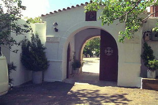 Der Eingang zum Agia Irini-Kloster, Krousonas